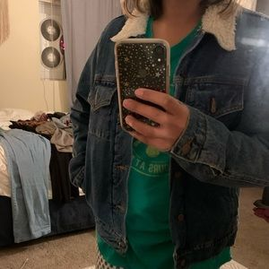 American Apparel Sherpa Lined Denim Jacket